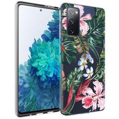 iMoshion Design Hülle Samsung Galaxy S20 FE - Dschungel - Grün / Rosa
