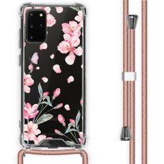 iMoshion Design Hülle mit Band Samsung Galaxy S20 Plus - Blume