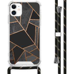 iMoshion Design Hülle mit Band iPhone 11 - Grafik-Kupfer - Schwarz