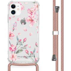 iMoshion Design Hülle mit Band iPhone 11 - Blume - Rosa