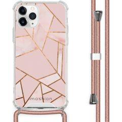 iMoshion Design Hülle mit Band iPhone 11 Pro - Grafik-Kupfer - Rosa