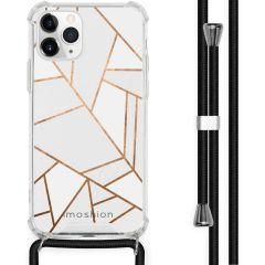 iMoshion Design Hülle mit Band iPhone 11 Pro - Grafik-Kupfer - Weiß