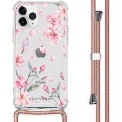 iMoshion Design Hülle mit Band iPhone 11 Pro - Blume - Rosa