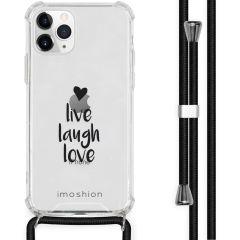 iMoshion Design Hülle mit Band iPhone 11 Pro - Live Laugh Love