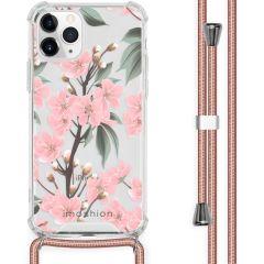 iMoshion Design Hülle mit Band iPhone 11 Pro - Blume - Rosa / Grün