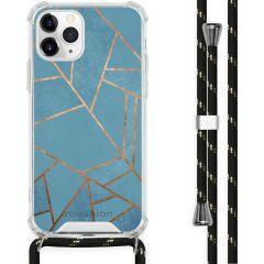 iMoshion Design Hülle mit Band iPhone 11 Pro - Grafik-Kupfer - Blau