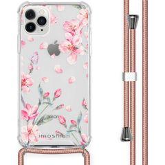 iMoshion Design Hülle mit Band iPhone 11 Pro Max - Blume - Rosa