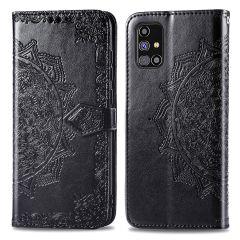 iMoshion Mandala Booktype-Hülle Samsung Galaxy M31s - Schwarz