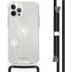 iMoshion Design Hülle mit Band iPhone 12 (Pro) - Pusteblume - Weiß