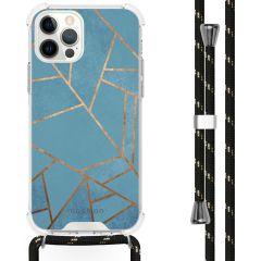 iMoshion Design Hülle mit Band iPhone 12 (Pro) - Grafik-Kupfer