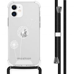 iMoshion Design Hülle mit Band iPhone 12 Mini - Pusteblume - Weiß