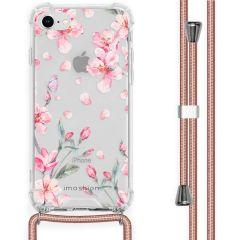 iMoshion Design Hülle mit Band iPhone SE (2020) / 8 / 7 - Blume