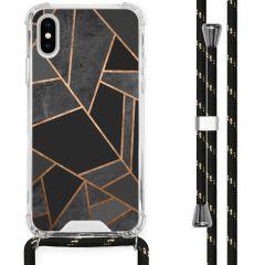 iMoshion Design Hülle mit Band iPhone X / Xs - Grafik-Kupfer