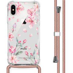 iMoshion Design Hülle mit Band iPhone X / Xs - Blume - Rosa