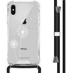 iMoshion Design Hülle mit Band iPhone X / Xs - Pusteblume - Weiß