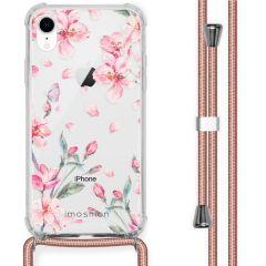iMoshion Design Hülle mit Band iPhone Xr - Blume - Rosa
