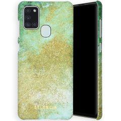 Selencia Maya Fashion Backcover Samsung Galaxy A21s - Green Nature