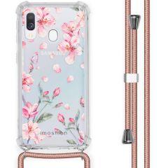 iMoshion Design Hülle mit Band Samsung Galaxy A40 - Blume - Rosa