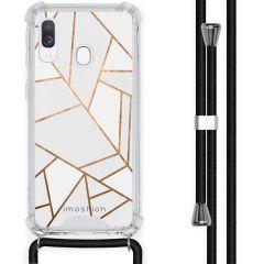 iMoshion Design Hülle mit Band Samsung Galaxy A40 - Grafik-Kupfer