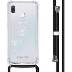 iMoshion Design Hülle mit Band Samsung Galaxy A40 - Pusteblume - Weiß