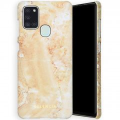 Selencia Maya Fashion Backcover Samsung Galaxy A21s - Marble Sand