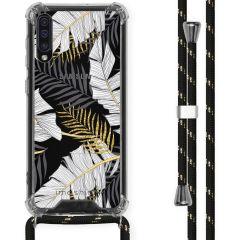 iMoshion Design Hülle mit Band Samsung Galaxy A50 - Blätter - Schwarz