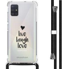 iMoshion Design Hülle mit Band Samsung Galaxy A51 - Live Laugh Love