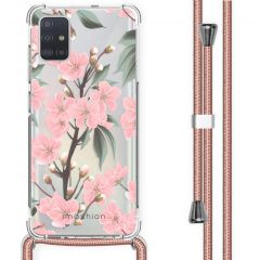 iMoshion Design Hülle mit Band Samsung Galaxy A51 - Blume - Rosa