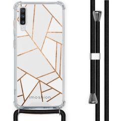 iMoshion Design Hülle mit Band Samsung Galaxy A70 - Grafik-Kupfer