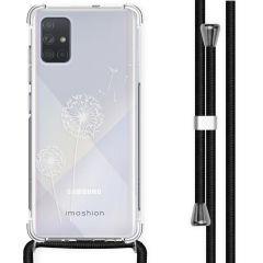 iMoshion Design Hülle mit Band Samsung Galaxy A71 - Pusteblume - Weiß