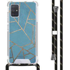 iMoshion Design Hülle mit Band Samsung Galaxy A71 - Grafik-Kupfer