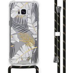 iMoshion Design Hülle mit Band Samsung Galaxy S8 - Blätter - Schwarz