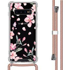 iMoshion Design Hülle mit Band Samsung Galaxy S10 Plus - Blume