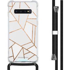 iMoshion Design Hülle mit Band Samsung Galaxy S10 - Grafik-Kupfer