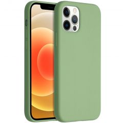 Accezz Liquid Silikoncase für das iPhone 12 (Pro) - Grün