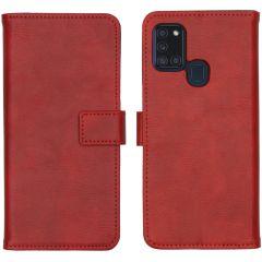 iMoshion Luxuriöse Buchtyp-Hülle Samsung Galaxy A21s - Rot