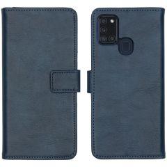 iMoshion Luxuriöse Buchtyp-Hülle Samsung Galaxy A21s - Dunkelblau