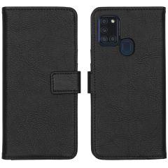 iMoshion Luxuriöse Buchtyp-Hülle Samsung Galaxy A21s - Schwarz