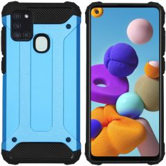 iMoshion Rugged Xtreme Case Hellblau Samsung Galaxy A21s
