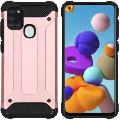 iMoshion Rugged Xtreme Case Roségold Samsung Galaxy A21s