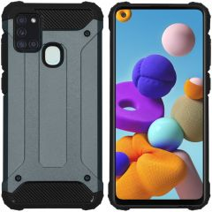 iMoshion Rugged Xtreme Case Dunkelblau Samsung Galaxy A21s