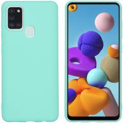iMoshion Color TPU Hülle Mintgrün für das Samsung Galaxy A21s