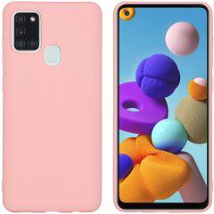 iMoshion Color TPU Hülle Rosa für das Samsung Galaxy A21s