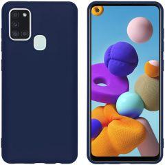 iMoshion Color TPU Hülle Dunkelblau für das Samsung Galaxy A21s