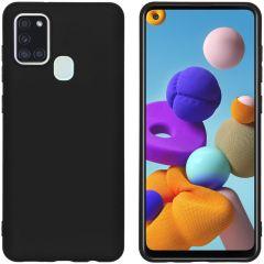 iMoshion Color TPU Hülle Schwarz für das Samsung Galaxy A21s