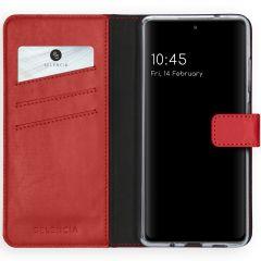 Selencia Echtleder Booktype Hülle Samsung Galaxy S20 FE - Rot