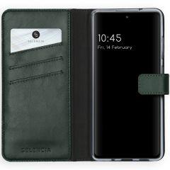 Selencia Echtleder Booktype Hülle Samsung Galaxy S20 FE - Grün