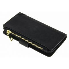 Schwarze luxuriöse Portemonnaie-Hülle iPhone 5 / 5s / SE