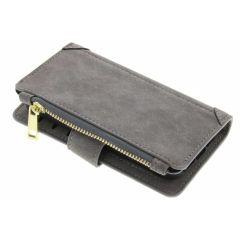Graue luxuriöse Portemonnaie-Hülle iPhone 5 / 5s / SE