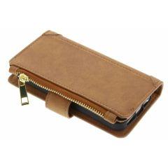 Braune luxuriöse Portemonnaie-Hülle iPhone 5 / 5s / SE